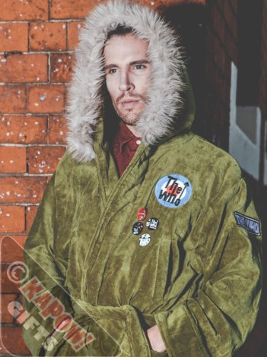 The Who Parker style Bathrobe. Fishtail Parka WITH FUR ON HOOD and Badges