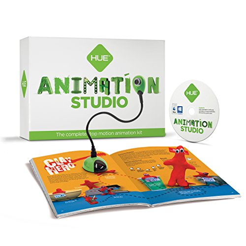 HUE Animation Studio (Green) for Windows PCs and Apple Mac OS X: complete stop motion animation kit