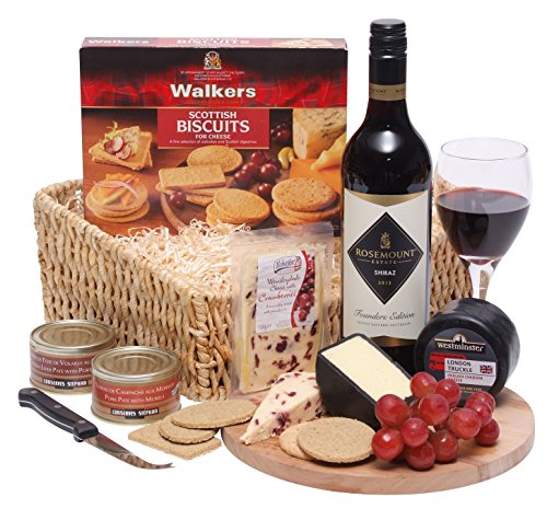 Wine, Cheese and Pate Hamper – Luxury Hampers and Gifts – The Perfect Christmas Hamper With Free UK
