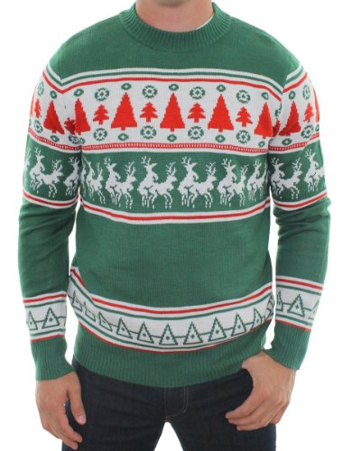 Unisex Christmas Jumper Tipsy Elves Conga Line Reindeer Xmas Tree Mens Womens Sweater Gift Top
