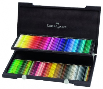 Faber-Castell 120 Albrecht Dürer Artists' Watercolour Pencils in Wenge – Stained Wooden Case