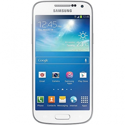 Samsung I9195 Galaxy S4 mini Smartphone Sim Free Factory Unlocked LTE Mobile Phone (WHITE)