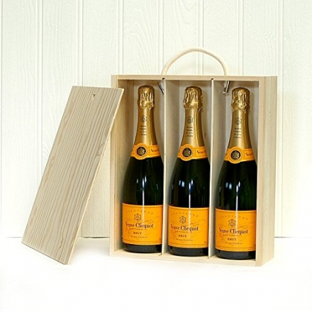 3 Bottle Veuve Cliquot Champagne Gift Box Set – Christmas, Wedding Anniversary, Corporate, Birthday