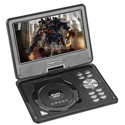 Koolertron 9.5″ LCD TFT Portable DVD Player Multi Region With 180° Rotating Swivel & Flip MP3 WMA M