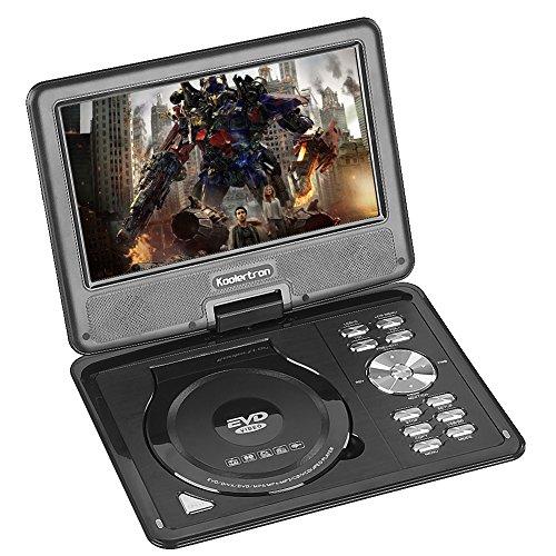 Koolertron 9.5″ LCD TFT Portable DVD Player Multi Region With 180° Rotating Swivel & Flip MP3 WMA M