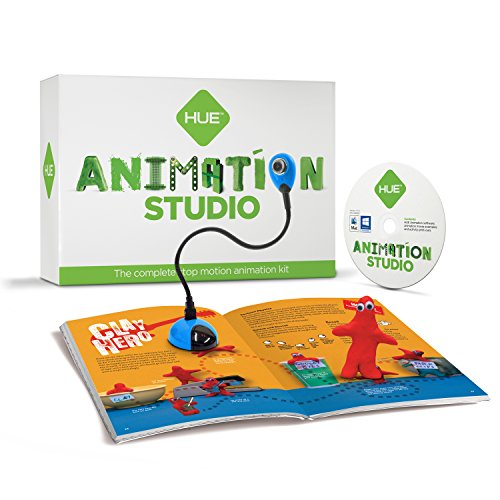 HUE Animation Studio (Blue) for Windows PCs and Apple Mac OS X: complete stop motion animation kit w