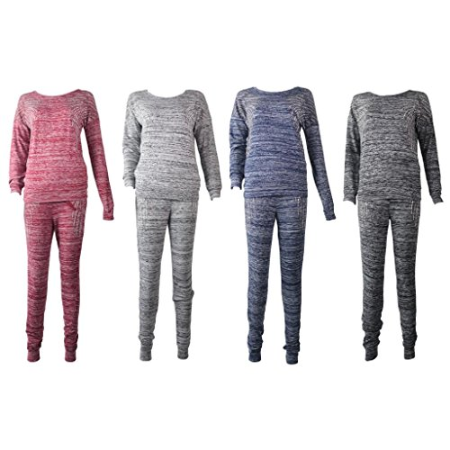 Ladies Designer Towie 2piece Tracksuit Long Bottoms & Long Sleeve Top Womens Retro Celeb Sweater Top
