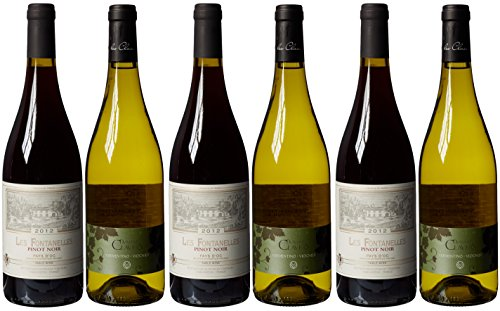 Le Bon Vin French Pinot Noir and Vermentino Wine Mixed Case Non Vintage 75 cl (Case of 6)