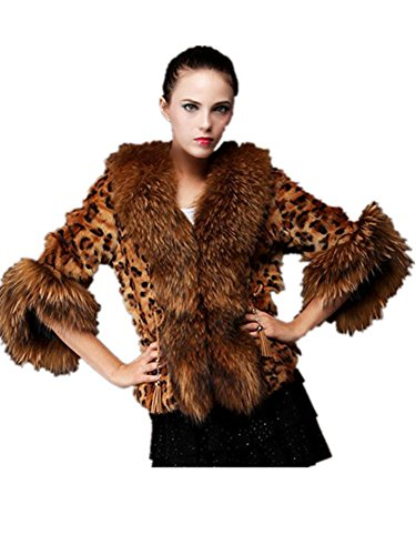 YABEIQIN Women's Coat Imitation Fox Fur Rabbit Fur Winter Warm Coat Jacket
