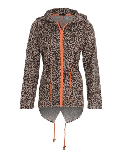 Women's Lightweight Mac Leopard Print Rain jacket