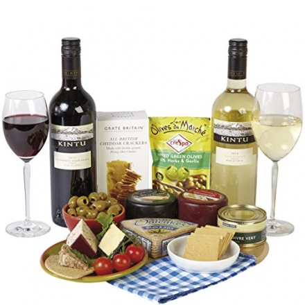 Wine and Cheese Picnic Gift Box
