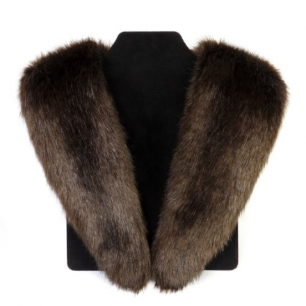 Helen Moore (Moore and Moore) Faux Fur Long Collar – Treacle