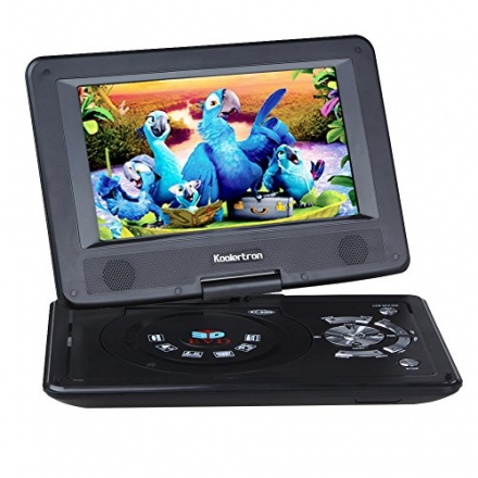 Koolertron 9″ Portable DVD Player With 180° Rotating Swivel LCD Built in Rechargable Battery Game P