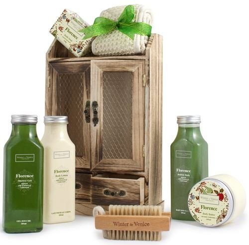 Florence Gift Set in Wooden Cabinet