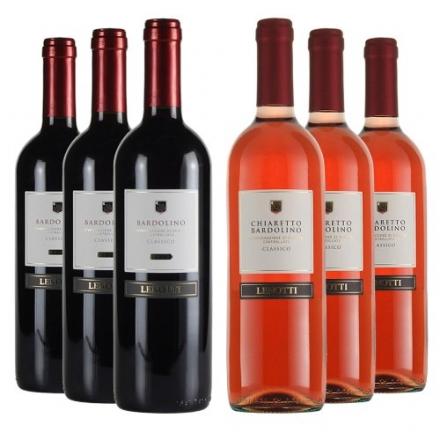 Le Bon Vin Italian Bardolino Case Rosso and Rosato Wine 2012 75 cl (Case of 6)