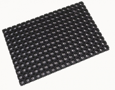 Doortex Octo Door Mat Indoor and Outdoor Rubber 1000x1500mm Ref 41015220CBK