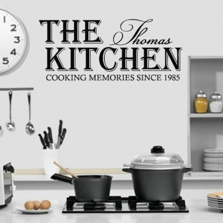 (LARGE) PERSONALISED NAME & DATE COOKING MEMORIES SINCE KITCHEN WALL ART VINYL DECAL STICKER 14 COLO