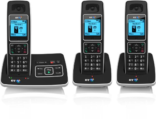 BT 6500 Cordless DECT Phone with Answer Machine and Nuisance Call Blocking (Pack of 3)