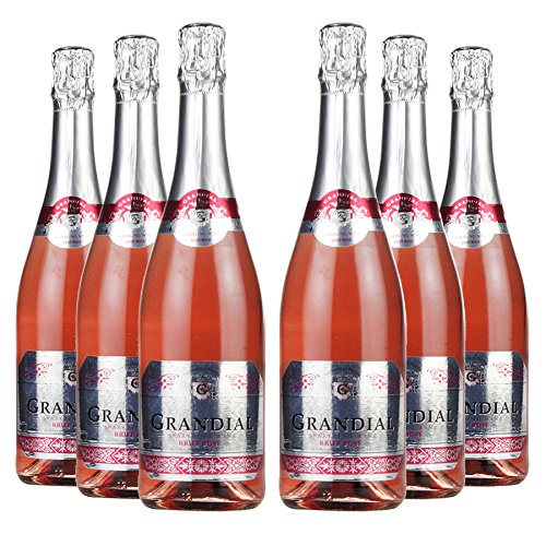 Le Bon Vin Grandial Rose Brut Sparkling Wine 75 cl (Case of 6)