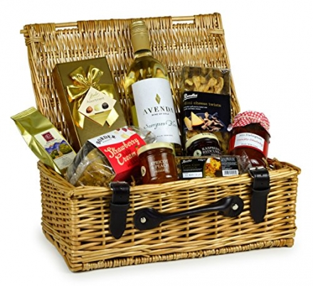 THE CHIRBURY FOOD HAMPER – great hamper gift with quality products including a red wine. Food Hamper