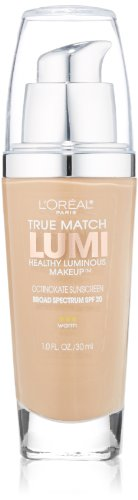 L'Oreal Paris True Match Lumi Healthy Luminous Makeup, Sand Beige, 1.0 Oz