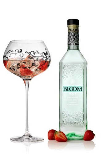 BLOOM GIN 70CL + GLASS DRINKING GOBLET