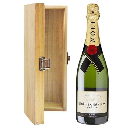 Moet & Chandon Brut Imperial NV Champagne in Hinged Wooden Gift Box