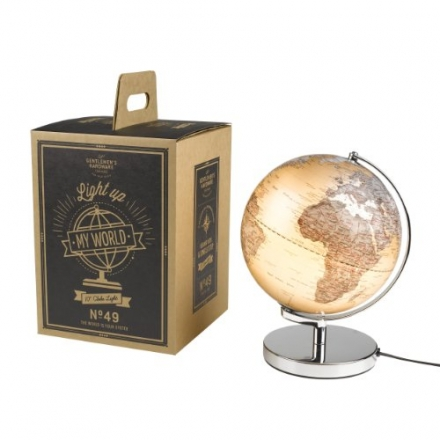 Gentlemans Hardware Globe Light (A Christmas Gift That Means The World!) 25W