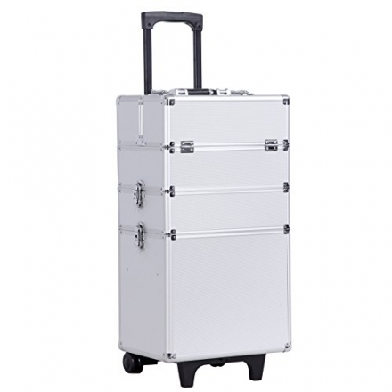 Songmics Trolley/Vanity Beauty Professional Stylish Aluminium Cosmetics Case Beauty set Box JHZ01S