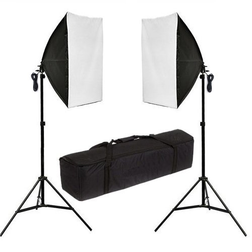 1250W 5500K Continuous Lighting Light Box Softboxes Kit -50x70cm Softbox Soft Box Kit + Carry Bag+ A