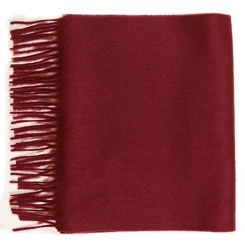 Pure Cashmere plain scarf, Maroon