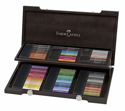 Faber-Castell Pitt Artist Wooden Box, Pack of 90