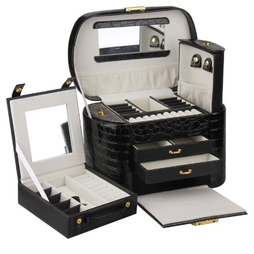 Rowling Large Jewellery Box Beads Storage Display Case jewellery Organizer ZG149BK