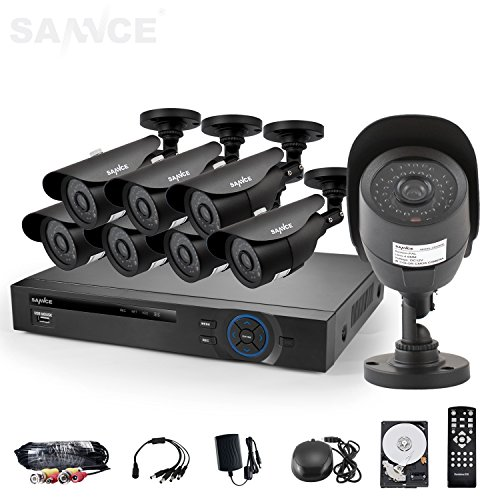 SANNCE® 8CH HDMI Output 960H DVR QR Code Scan Easy Setup Surveillance System With 1TB HDD and 8 800