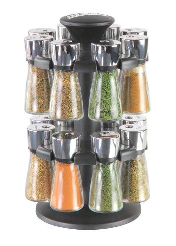 Cole & Mason 30 cm Hudson  16-Jar Filled Herb & Spice Carousel