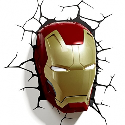 Marvel Comics 3D Iron Man Mask Wall Light