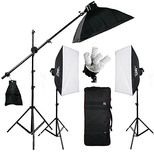 BPS 2850W 5500K 5 Individual Switch Control Continuous Light Softbox Kit -Earthed -15 x 190w Fluores
