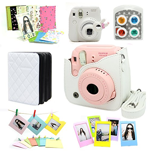 Fujifilm Instax Mini 8 Instant Camera Accessory Bundles Set (Included: White Mini 8 Vintage Case Bag