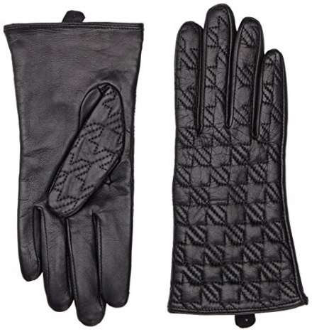 Tommy Hilfiger Women's Quilted Houndstooth Gloves