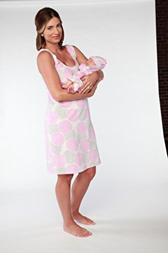 Soft Cotton Nursing Nightie & Onesize BabySet