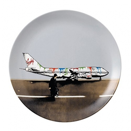 Royal Doulton Bone China Street Art Nick Walker Ed Vandal Airways Plate, Multi-Colour